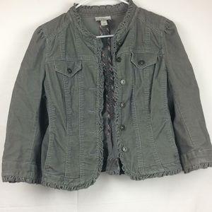 Corduroy Ann Taylor loft jacket size 10